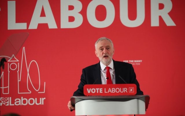 Labour leader Jeremy Corbyn speaks during the launch of Labour's local election campaign at Savoy Place in London.   Photo credit: Yui Mok/PA Wire
