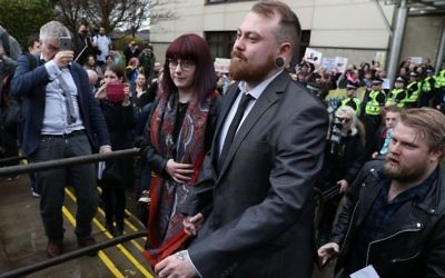 Mark Meechan leaves Airdrie Sheriff Court    Photo credit: Andrew Milligan/PA Wire