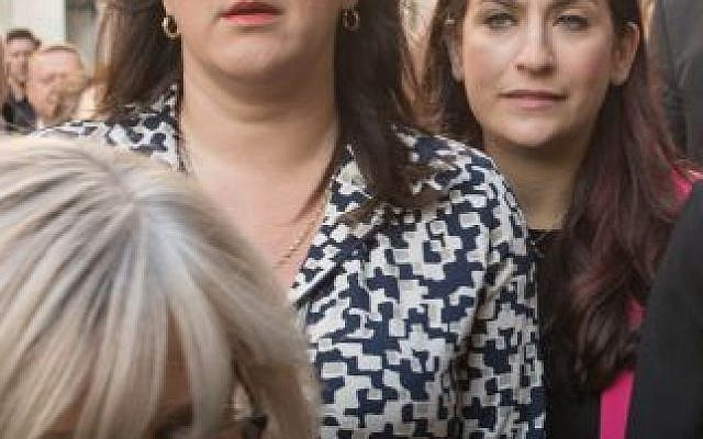 Ruth Smeeth (left) and Luciana Berger, whom she replaces as JLM parliamentary chair. Photo credit: Stefan Rousseau/PA Wire