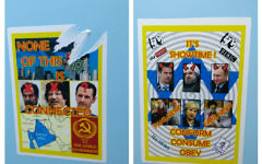 Anti-Semitic stickers seen on campus.   Picture credit: Bournemouth University Jewish society