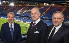Chelsea FC owner Roman Abramovich, WJC President Ronald Lauder and WJC CEO Robert Singer. Picture: Shahar Azran