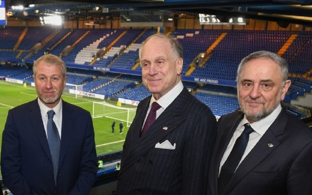 Chelsea FC owner Roman Abramovich, WJC President Ronald Lauder and WJC CEO Robert Singer. Picture: Shahar Azran