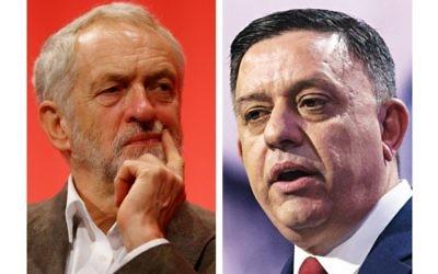 Jeremy Corbyn and Avi Gabbay
