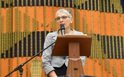 Melanie Phillips speaking at St John's Wood synagogue