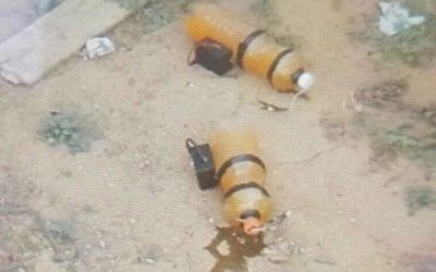 Two explosive devices placed by terrorists at the Israeli border in Gaza