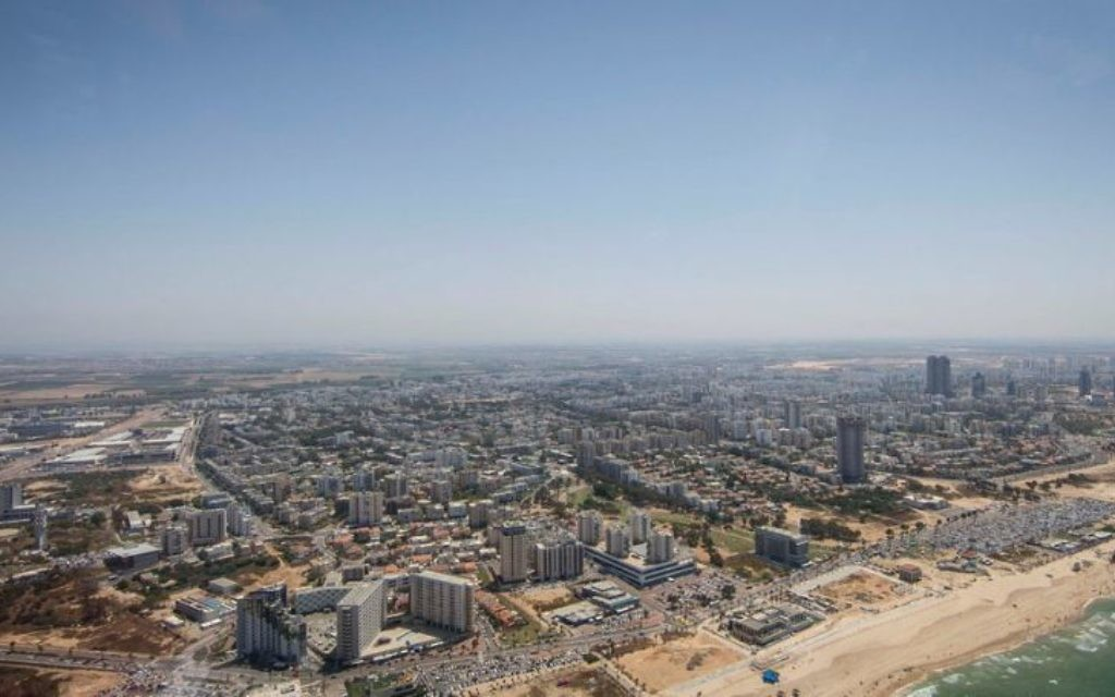 View over the Israeli coast from an RAF plane which took part in the flyover   Credit: @UKinIsrael on Twitter