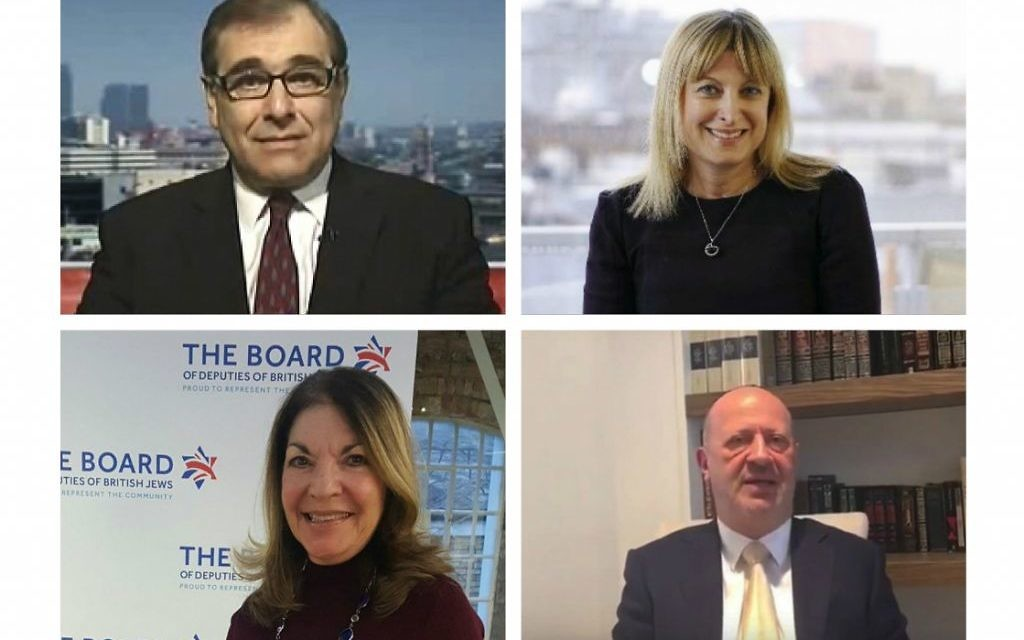Four Board hopefuls: Simon Hochhauser, Marie van der Zyl, Sheila Gewolb and Edwin Shuker
