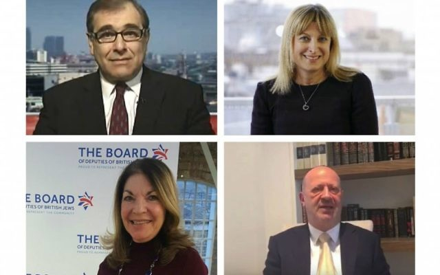 Four Board hopefuls: Simon Hochhauser, Marie van der Zyl, Sheila Gewolb and Edwin Shuker