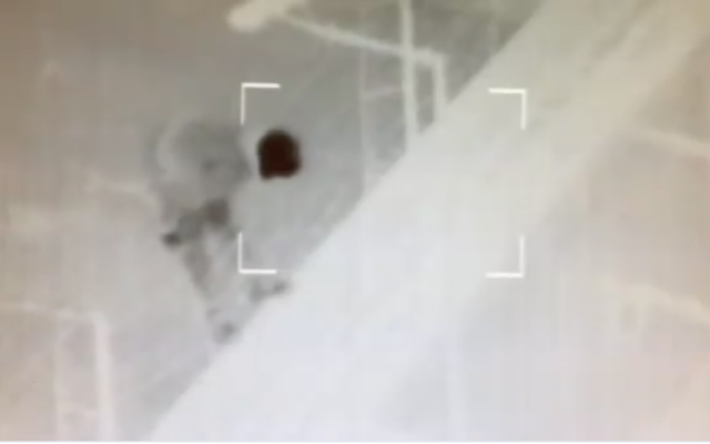 IDF footage shows the moment a Palestinian tries to cut the border fence and infiltrate into Israel