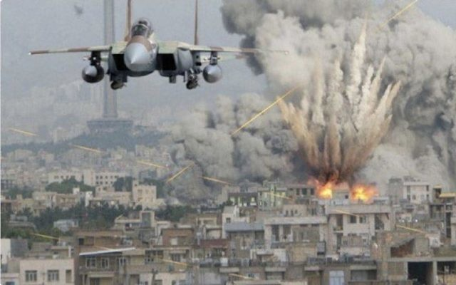 The 'fake' picture depicting an Israeli jet bombing Tehran, posted by Diane Abbott
