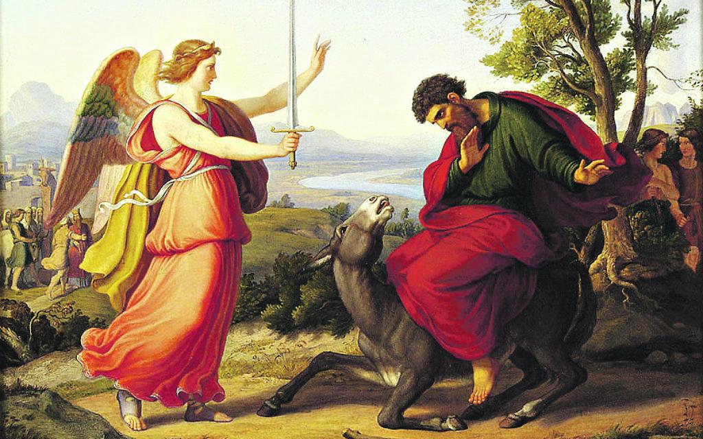 Balaam and a donkey
