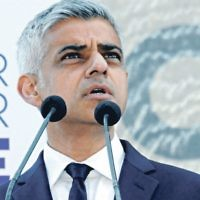 Sadiq Khan speaking at the 2016 Yom HaShoah ceremony shortly after being elected as London Mayor