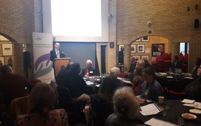 Dr James Smith, co-founder of Holocaust Centre UK speaks during the one day conference
