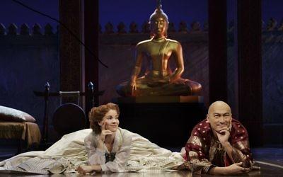 Kelli O'Hara and Ken Watanabe star in The King And I