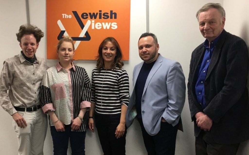 The Jewish Views cast this week! L-R: Phil Dave  Jess Harris, Kate Fulton, Russell Bahar and Clive Roslin