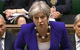 Theresa May rushed from Parliament after more than two hours at the Dispatch Box answering questions on her Brexit deal