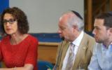 Board CEO Gillian Merron, alongside President Jonathan Arkush  (centre) and outgoing senior vice-president Richard Verber