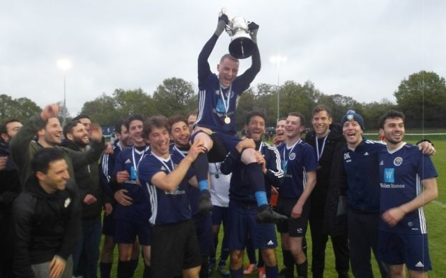 Oakwood celebrate lifting its first ever cup