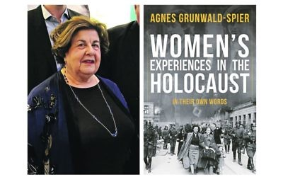 Agnes Grunwald-Spier with her book