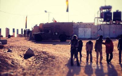 Sudanese refugees at the Egypt-Israel border, April 2012