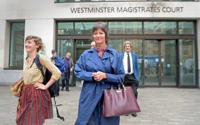 Blogger Alison Chabloz leaves Westminster Magistrates' Court,   Photo credit: Victoria Jones/PA Wire