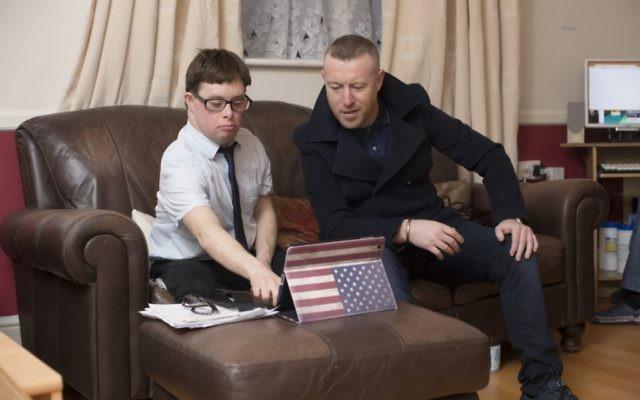 Church Lane resident Ben Silver with Peter Behan