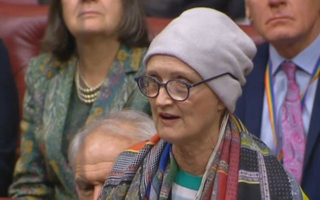 Dame Tessa Jowell speaking in the House of Lords in London, after she was diagnosed last May with a high-grade brain tumour. Photo: PA Wire