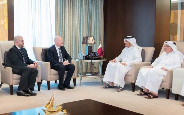 Jason Greenblatt met with Foreign Minister Sheikh Mohammed Bin Abdulrahman Al Than
