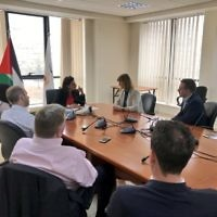 Labour MPs meeting Palestinian Authority Minister Amal Jadou in Ramallah.