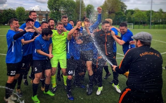 Fairlop celebrate lifting the Division Two title