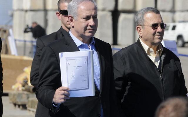 Ehud Barak, with Prime Minister Benjamin Netanyahu in 2011