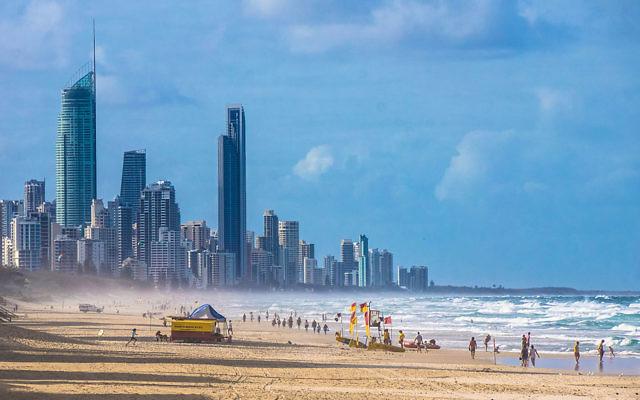 Gold Coast beach and skyline, Queensland.