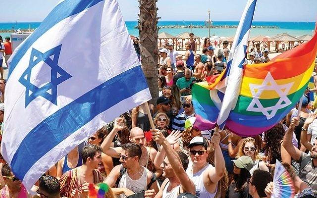 Gay pride parade in Tel Aviv, Israel. 2017