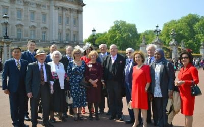 Representatives of the Holocaust Memorial Day Trust at Buckingham Palace for the Garden Party.  Credit: HMDT
