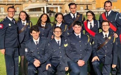 11 Jewish young leaders and volunteers who represented JLGB at Buckingham Palace at a ceremony in May
