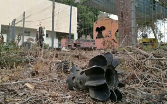 Mortar shell near Israeli nursery   Source: Office of the Prime Minister of Israel