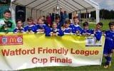 Maccabi London Lions U10 White celebrate its Watford Friendly League Challenge Cup win