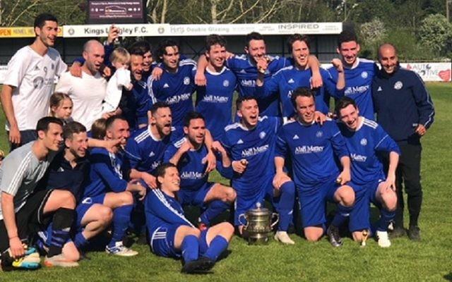 London Lions celebrate its Peter Morrison Trophy win