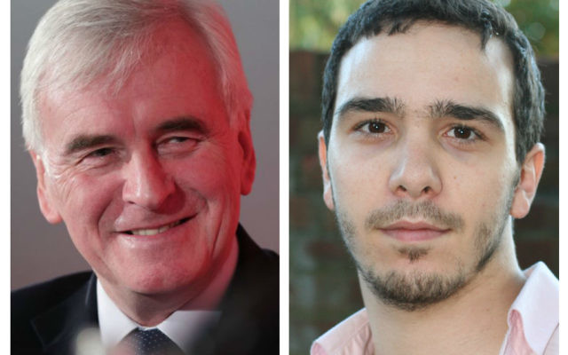 Shadow chancellor John McDonnell and Adam Langelben