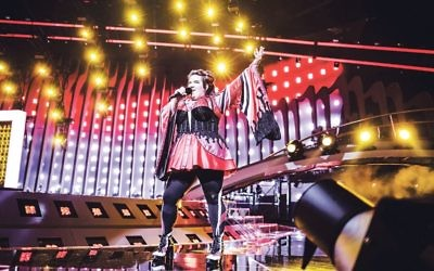 Netta sings her heart out during Eurovision