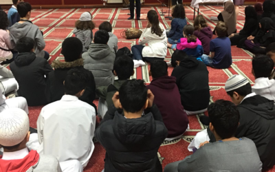 Youngsters at Minhaj-ul-Quran Mosque in Forest Hill used their second Interfaith Student Exchange, held over the last two weekends, to do something to help those in need