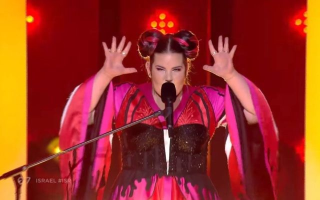 Netta Barzilai during her Eurovision semi final performance