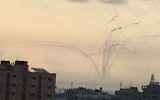 Mortar shells fired from Gaza at southern Israel, May 29, 2018 (Twitter)