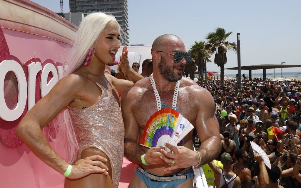 Tel Aviv's Gay community is joined by revellers from around the world for Pride 2018 Photo credit: Guy