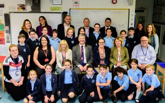 Delegation visits students at  North West London Jewish Day School