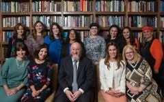 The Chief Rabbi with the graduates  Picture credit: Blake Ezra Photography