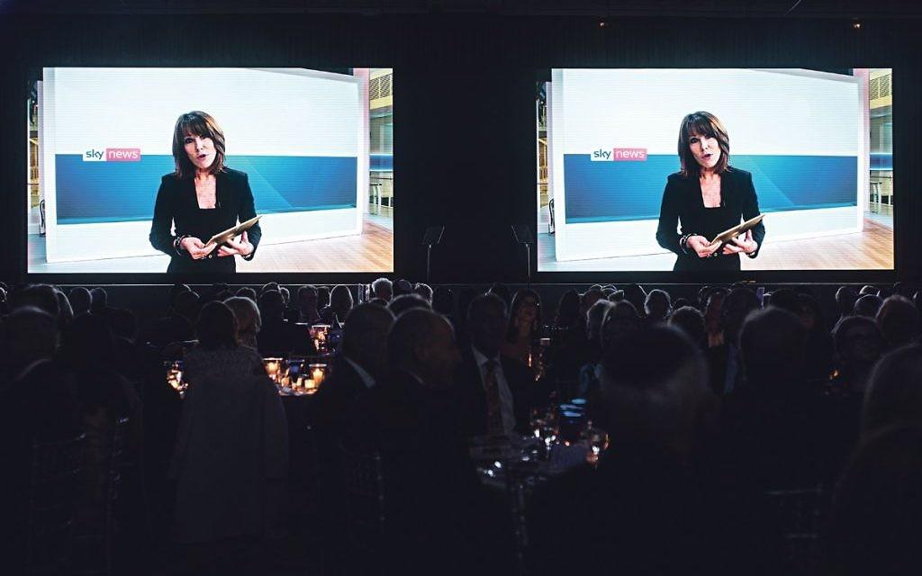 Kay Burley introduces film showcasing Jewish Care's work   Credit: Blake Ezra Photography