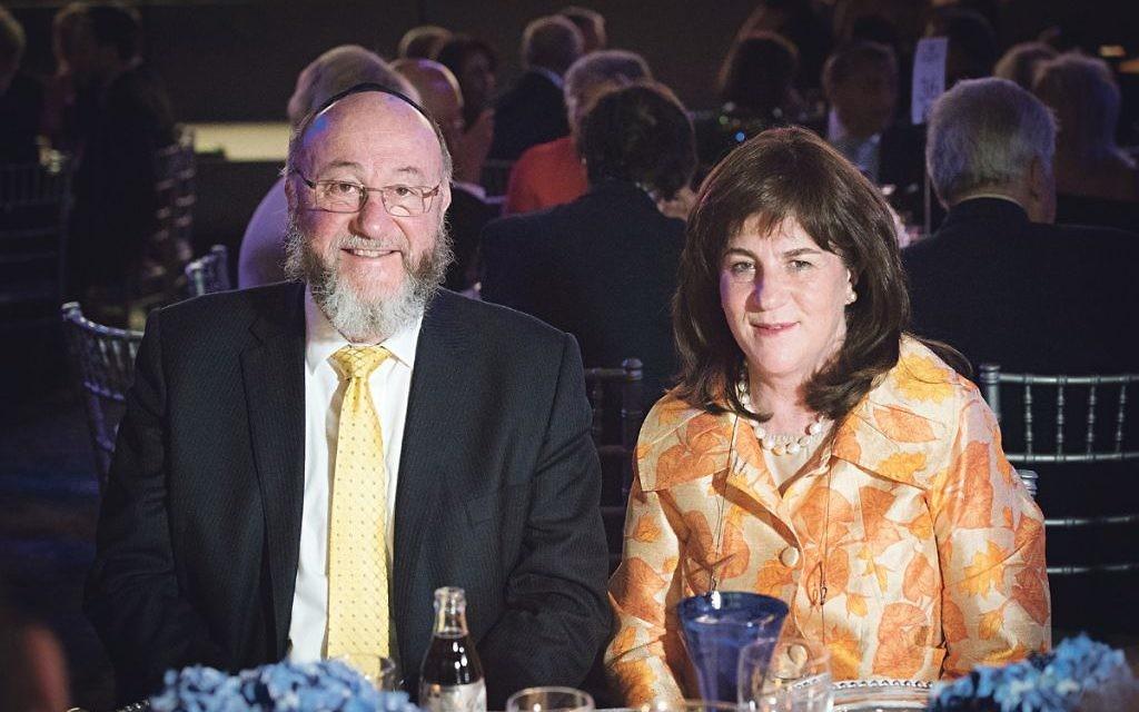 Chief Rabbi Ephraim Mirvis and his wife Valerie   Credit: Blake Ezra Photography