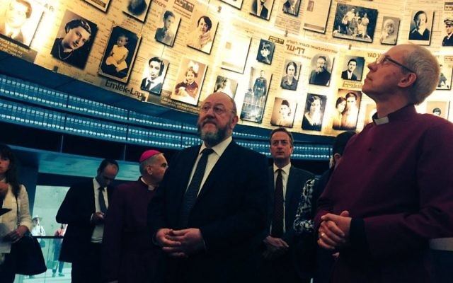 Chief Rabbi Ephraim Mirvis joins Archbishop Welby at Israel's Holocaust memorial, Yad Vashem
