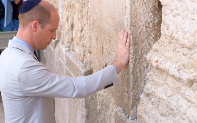 Prince William, The Duke of Cambridge at the Western Wall